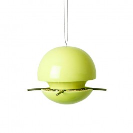 Green and Blue BirdBall Seed Feeder